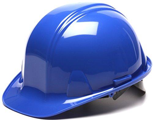 Pyramex Safety SL Series Cap Style Hard Hat, 4-Point Snap Lock Suspension, Blue ()