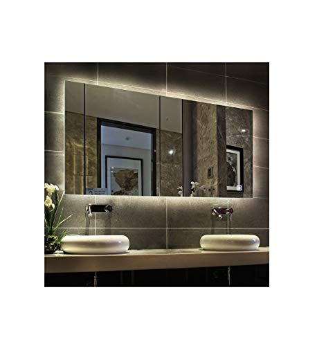 Hans&Alice LED Lighted Rectangular Wall Mounted Mirror (LED Lighted, -