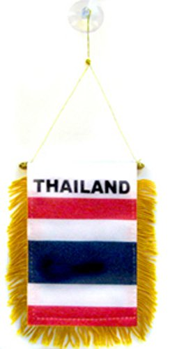 ALBATROS Thailand Mini Flag 4 inch x 6 inch Window Banner with Suction Cup for Home and Parades, Official Party, All Weather Indoors -