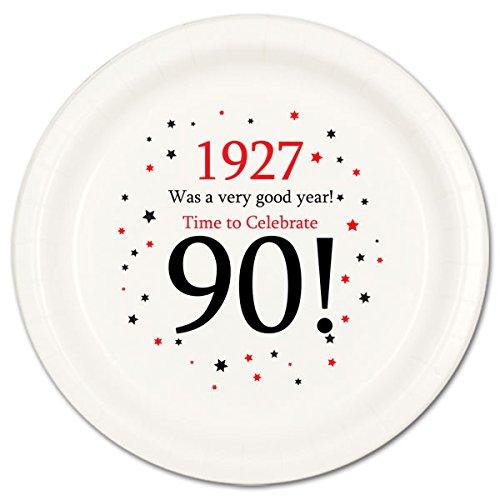 1927 - 90TH BIRTHDAY DESSERT PLATE (8 CT.) (Ideas For 90th Birthday)