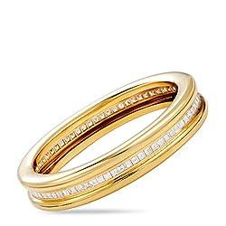 Yellow Gold French Cut Diamond Pave Bangle