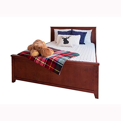 Jackpot! Deluxe Solid Hardwood Full-Size Bed, Cherry