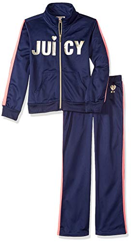 Juicy Couture Track - Juicy Couture Girls' Little 2 Pieces Track Pants Set, Navy 5
