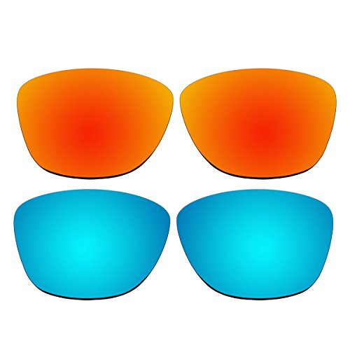 Replacement Polarized Fire Red and Ice Blue Lenses for Oakley Jupiter Sunglasses (Not Fit Jupiter Carbon, Jupiter Squared, Jupiter Factory - Carbon Squared Jupiter