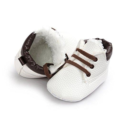 leap frogInfant Boy Classic Suede Bootie - Zapatillas altas Bebé-Niñas Winter Lichi White