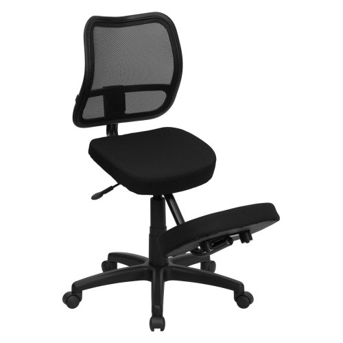 Flash-Furniture-Ergonomic-Kneeling-Chair-with-Mesh-Back-Black-Fabric