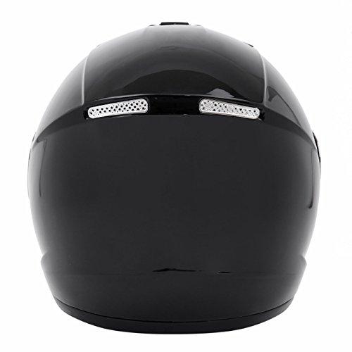 Amazon.es: LCD-WORLD Casco de moto con cara completa abierta, talla XL, color negro