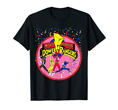 Power Rangers Pink Logo With Group T-Shirt ()