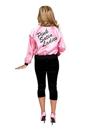 [Satin Pink Ladies 50's Halloween Costume for Women - Medium] (Fifties Halloween Costumes)