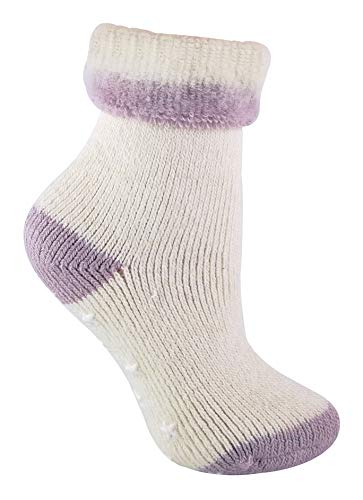 d0ac05fbe Womens Cozy Warm Non Slip Alpaca Wool Blend Thermal Slipper Bed Socks with  Grips (5