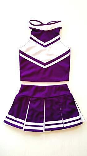Children/Girls' Cheerleader Cheerleading Uniform Costume purple/White (L /
