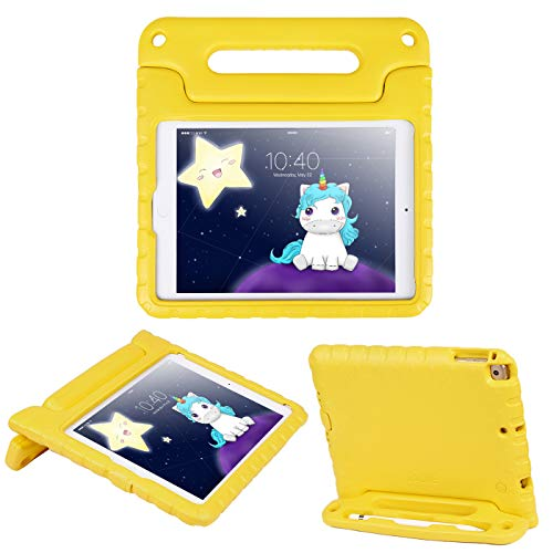 HDE Case for iPad 9.7 inch 2018 / 2017 Kids Shock Proof Bumper Cover Stand with Handle for New 6th Gen Apple Education iPad (Integrated Apple Pencil Holder) and 5th Generation iPad 9.7