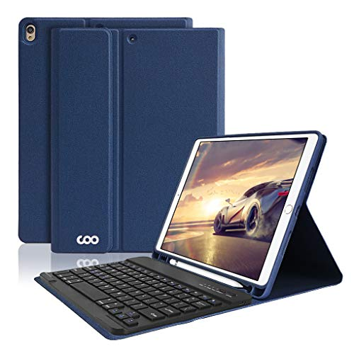 iPad Pro 10.5 Keyboard Case with Built-in Pencil Holder, COO Keyboard Case for iPad Air 3 10.5