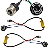 iJDMTOY (2) Hyper Flash Fix Error Free Wiring Adapters Compatible With 1156 7506 7527 LED Turn Signal Light Bulbs
