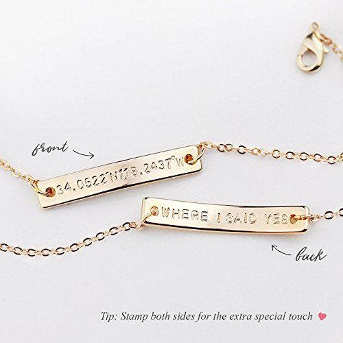 A Hand Stamped Personalized Name Plate Gold Bar Bracelet Perfect Gift for Women