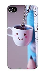 Fireingrass FXz71NglPH Protective Case For Iphone 5/5s(coffee Cup Keychain ) - Nice Gift For Lovers