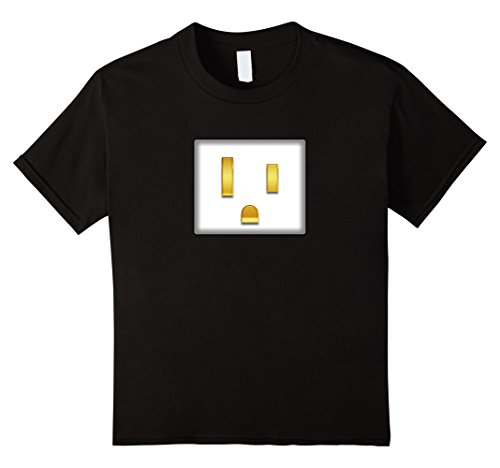 Kids Electrical Plug To Match Outlet Simple Couples Halloween Tee 12 Black (Funny 12 Tech Halloween Costume Ideas)