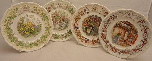 Royal Doulton Brambly Hedge Full Set of Four Seasons Spring Summer Autumn Winter 8 Inch Plates Royal Doulton Brambly Hedge