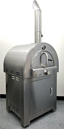 Western Pacific Pizza Oven Outdoor Artisan Gas Fired Pizza Stone Bake - Commercial Stainless Steel - LPG Propane - Cooking Accessories - Model SYMG01