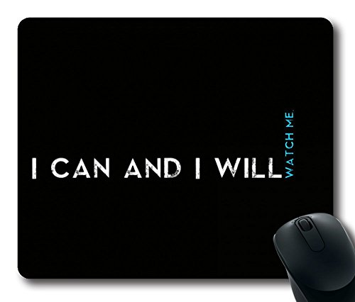 1 X Personalized Custom Gaming Mouse Pad Oblong Shaped Quotes I Can And I Will Design Natural Eco Rubber Durable Computer Desk Stationery Accessories Mouse Pads For Gift