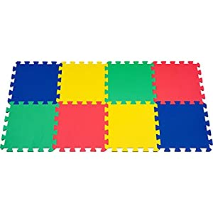 8 piece Multi color EVA Foam Exercise Mat Set