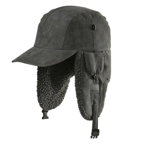 Kurt Cobain Costume (Chaos Linux Trapper Hat with Brim, Grey, One Size)