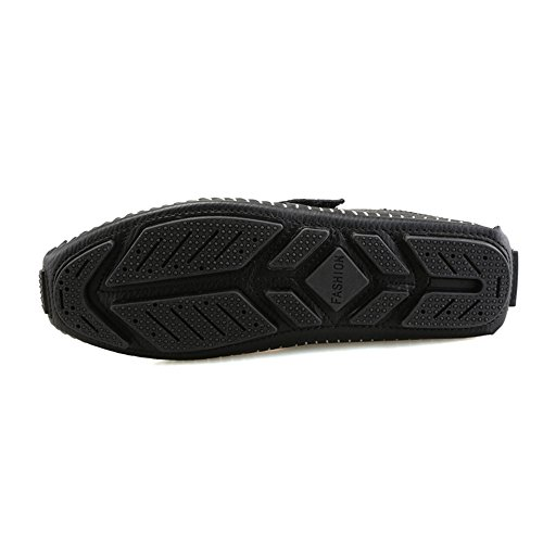 Classico Scarpe DUORO Driving Uomo Slip Nero Antiskid On Cuoio Mocassini da Casual Loafers rrEYw