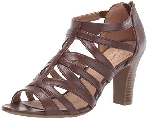 - LifeStride Women's Carter Heeled Sandal, Tan, 8.5 M US
