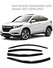 Rain Guards for Honda HR-V 2016-2021 (4PCs) Smoke Tinted Tape-On Style