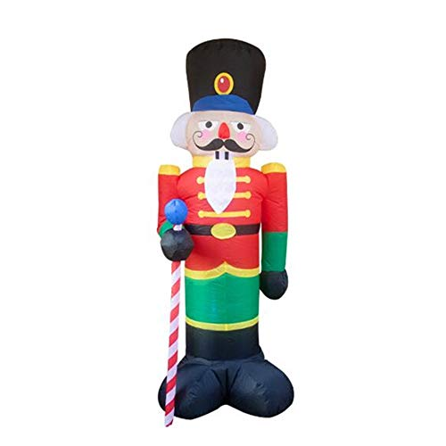 TULLE 240cm Nutcracker Air Inflatable Santa Claus Outdoor Christmas Decorations for Home Yard Garden Decor Merry Christmas Noel (Nutcracker 2.4M) from TULLE