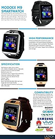 8a8b16ad906 MUSTTALK Aluminium Bluetooth Smartwatch with Camera and SIM Memory Card  Support and Calling Function for All 3G