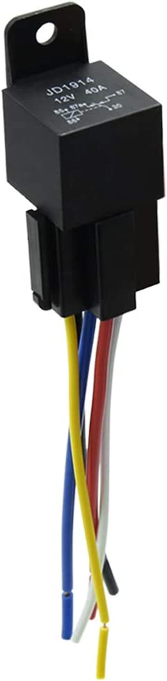 uxcell DC 12V 40A SPDT Automotive Car Relay 5 Pin 5 Wires w/Harness Socket Plug