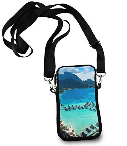 Cell Phone Purse Mini Crossbody Bag Smartphone Wallet Headphone Bag Le Moana Resort Bora Bora Design
