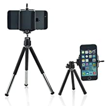 ONX3 (Tripod Phone Holder) BLU Dash C Music Adjustable Mini 360 Rotatable Tripod Stand with Phone Clip Holder