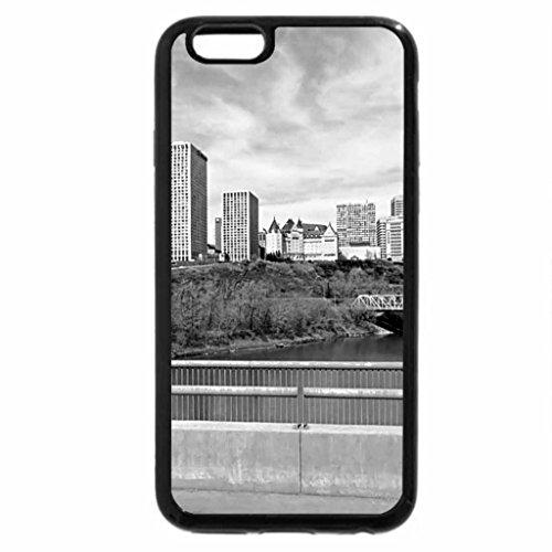 iPhone 6S Plus Case, iPhone 6 Plus Case (Black & White) - North Saskatchewan river