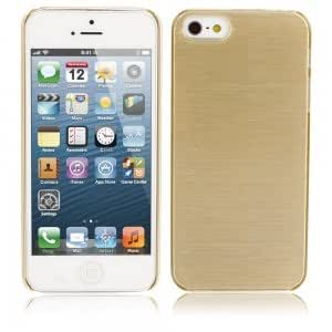 Wiredrawing Protective PC Case for iPhone 5/5S Golden