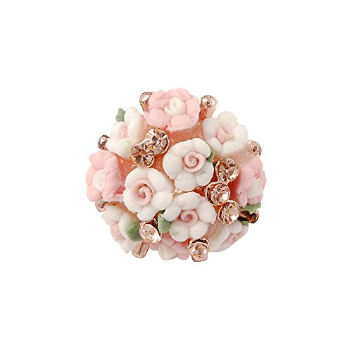 Mavis's Diary 3D Cute Dust Plug Accessories/Cell Charms/Ear Jack for Iphone 6S/6/5/4,Samsung Galaxy S4/S5/S6/S7,Galaxy Note 3/4/5,HTC,LG Series and Other 3.5mm Earphone Jack ( Ceramics Flowers )