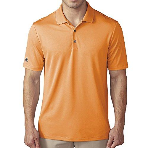 adidas Golf Men's Golf Performance Polo Shirt, Bright Orange, X-Large