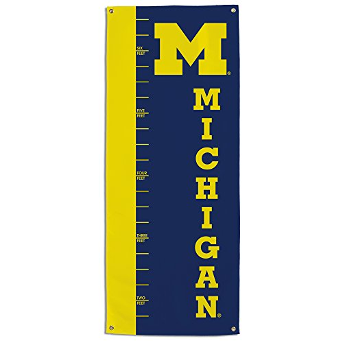 (NCAA Michigan Wolverines Growth Chart Banner, Navy)
