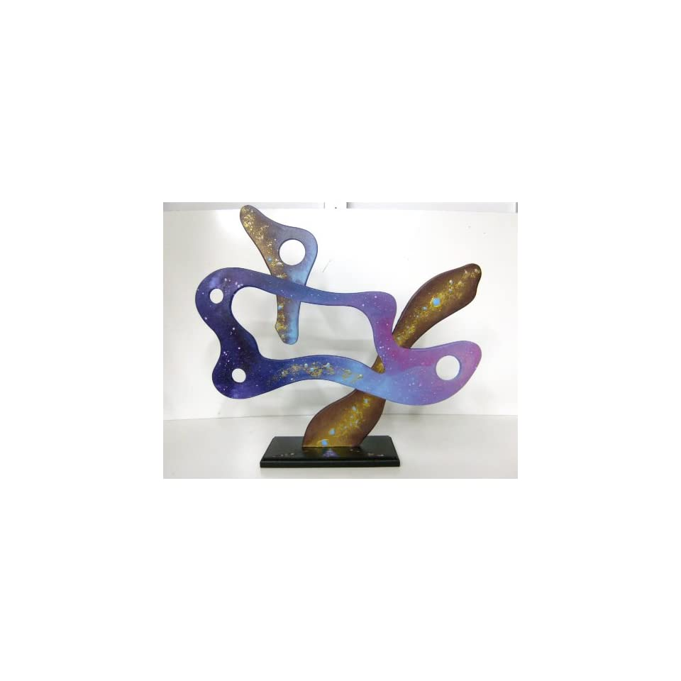 Contemporary Abstract Modern Art Painted Table Sculpture Decor, Design by Alisa