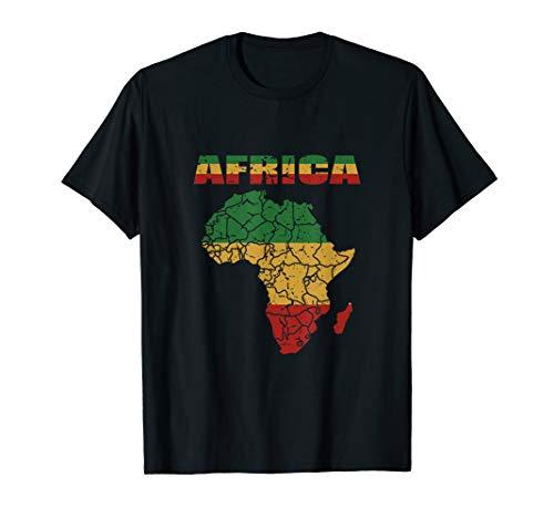 African Continent Shirt Afro American Reggae Flag T-Shirt