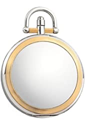 Colibri Pocket Watch with Chain Two-Tone Easy to Read Numbers PWS044100