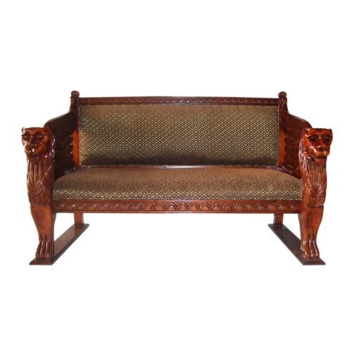 Design Toscano The Lord Raffles Winged Lion Settee