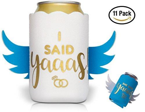 The Wed Shed She Said Yaas! Juego de Accesorios de Regalo para Bebidas frías de Bebidas, para Fiestas de Ducha, decoración...