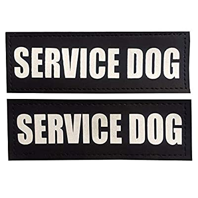 FAYOGOO Reflective in Training/Service Dog in Training/Therapy Dog/Do Not Pet/Emotional Support Dog Patches with Hook Backing for Service Dog Vests Harnesses