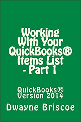 Book Working With Your QuickBooks® Items - Part 1
