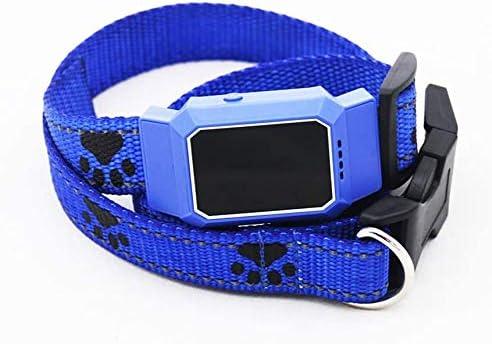 青い犬や猫のための耐性リアルタイム無線、IP67の防水GPSトラッカー光と水のないミニGPSトラッカーペット,青い