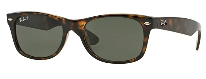 87b8bc7066 Ray-Ban RB 2132 902 58 55mm New Wayfarer Tortoise with Green Polarized  Lenses New  Amazon.co.uk  Books