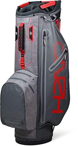 Sun Mountain Golf 2019 H2NO Superlite Cart Bag - Gun-Space-Gray-Red - Mountain Putter Golf Bag