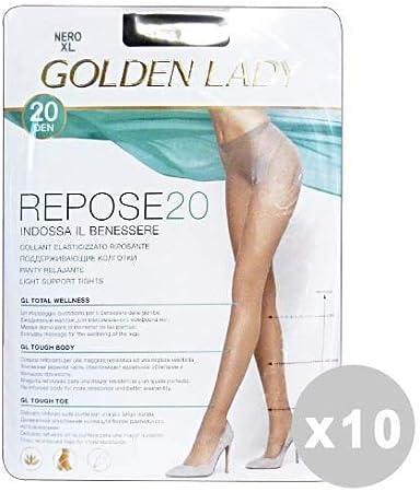 IV 36/g Golden Lady Repose Set 10/Golden Lady Repose Strumpfhose 40/DEN Schwarz Gr